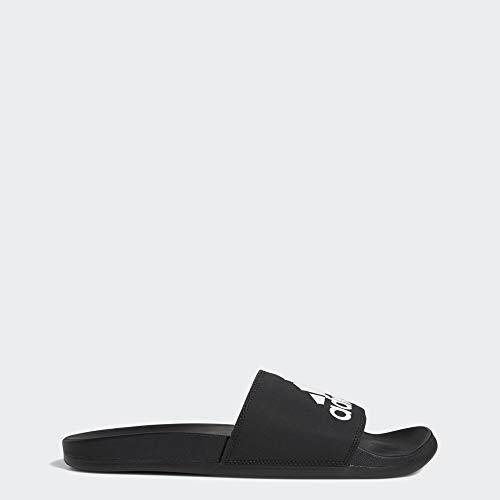 adidas Men's Adilette Comfort Sandal, White/Grey