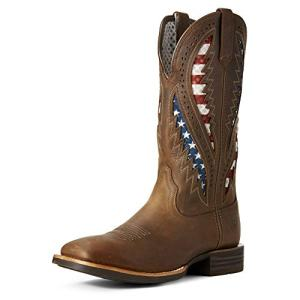 Ariat Men's Quickdraw Venttek Western Boot, Distressed Brown
