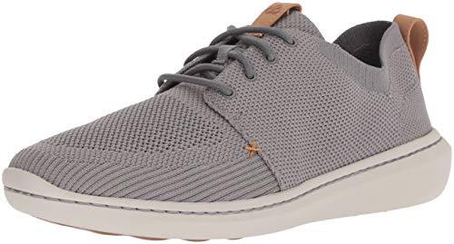 CLARKS Men's Step Urban Mix Sneaker, Grey Textile Knit