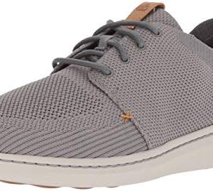 CLARKS Men's Step Urban Mix Sneaker, Grey Textile Knit