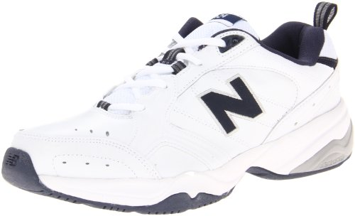 New Balance Men's MX624v2 Casual Comfort Training Shoe, White/Navy, 13 2E US