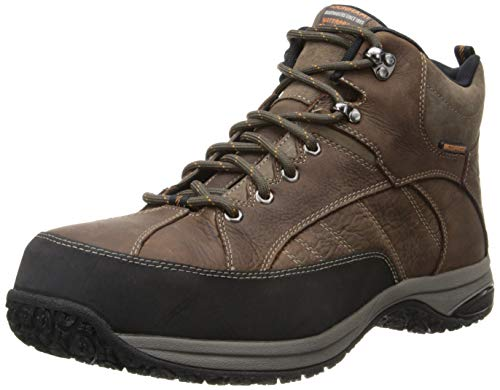 Dunham Men's Lawrence Steel Ankle Boot, Dark Brown