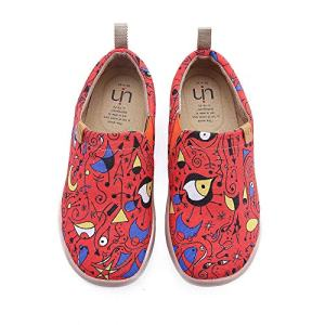UIN Women's Red Fire Casual Canvas Slip-on Shoes Red