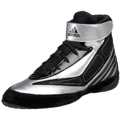 adidas Men's Tyrint V Wrestling Shoe,Black/White/Silver,9 M US