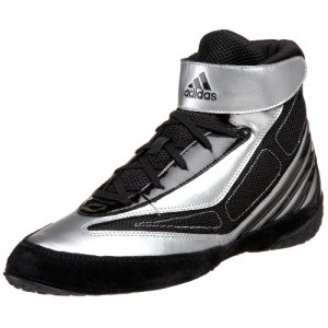 adidas Men's Tyrint V Wrestling Shoe,Black/White/Silver,9 M US