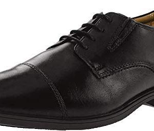 Clarks Men's Tilden Cap Oxford Shoe,Black Leather