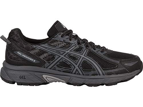 ASICS Mens Gel-Venture 6 Running Shoe, Black/Phantom/Mid Grey, 12 4E US