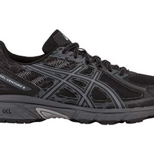 ASICS Mens Gel-Venture 6 Running Shoe, Black/Phantom/Mid Grey, 12 4E US