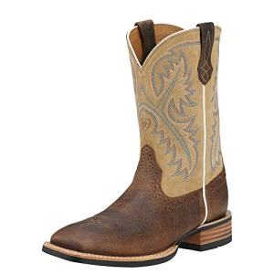 Ariat Men's Quickdraw Western Boot, Tumbled bark/Beige