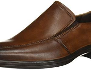 ECCO Men's Minneapolis Bike Toe Slip On Loafer, Amber