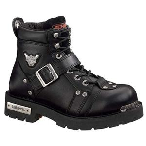 Harley-Davidson Men's Brake Buckle Boot,Black