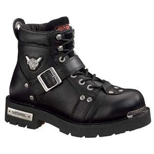 Harley-Davidson Men's Brake Buckle Boot,Black