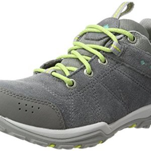 Columbia Women's Fire Venture Low Waterproof Hiking Shoe, Grey Steel/Aquarium, 9.5 B US