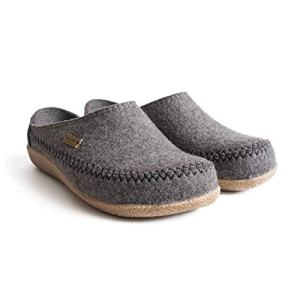 HAFLINGER Unisex Fletcher Wool Clogs, New Grey