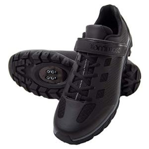 tommaso Roma - Shoe of The Month - Men's Urban Commuter, Spinning, Multi-Use Cycling Shoes - 47 Black/Grey