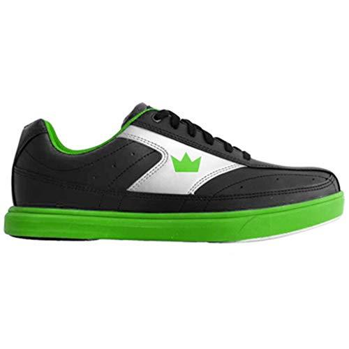 Brunswick Bowling Products Mens Renegade Bowling Shoes- M US, Black/Neon Green, 10.5
