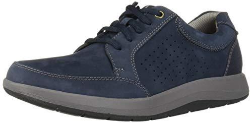 CLARKS Men's Shoda Walk Waterproof Sneaker, Navy Nubuck
