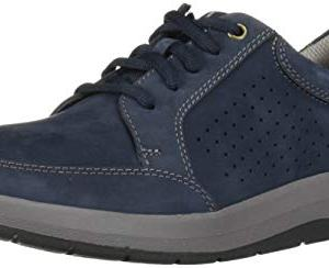 CLARKS Men's Shoda Walk Waterproof Sneaker, Navy Nubuck
