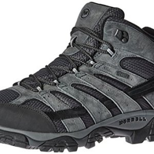 Merrell Men's Moab 2 Mid Waterproof Hiking Boot, Granite