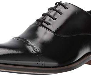 STACY ADAMS Men's Barris Cap-Toe Lace-Up Oxford, Black
