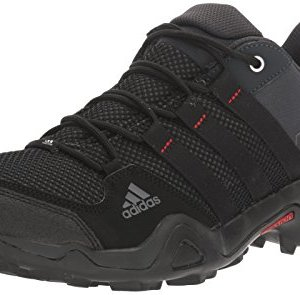 adidas outdoor Men's AX2 Hiking Shoe, Dark Shale/Black/Light Scarlet, 10.5 M US