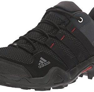 adidas outdoor Men's AX2 Hiking Shoe, Dark Shale/Black/Light Scarlet, 10.5 M US
