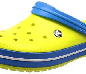 Crocs Unisex Crocband Clog, tennis ball green/ocean