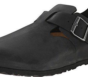 Birkenstock Unisex London Black Oiled Leather
