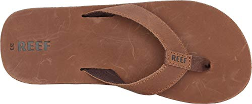 Reef - Boys Kids Leather Smoothy Sandals, Size: 4/5 M US Big Kid Reef - Boys Kids Leather Smoothy Sandals, Size: 4/5 M US Big Kid, Color: Bronze Brown.