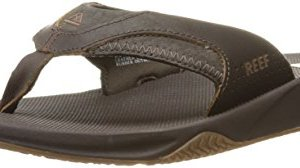 Reef Men's Sandals Leather Fanning | Bottle Opener Flip Flops For Men