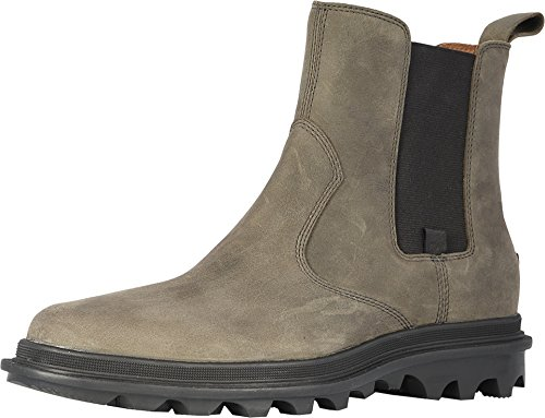 Sorel Mens Ace Chelsea Waterproof Boot, Quarry/Black