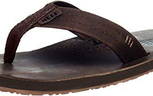 Reef Men's Leather Sandals Draftsmen | Bottle Opener Flip Flops for Men