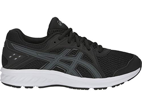 ASICS Kid's Jolt 2 GS Running Shoes, 6.5M, Black/Steel Grey