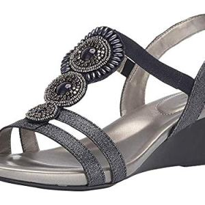 Bandolino Womens Hartley Wedge Sandal Storm