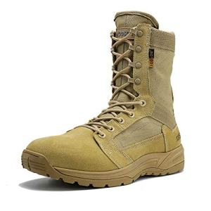 IODSON Men's Ultralight Combat Boots, Breathable Military Boots