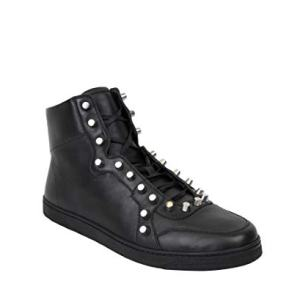 Gucci Black Sttuded Leather High Top Sneaker