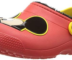 Crocs Unisex Fun Lab Lined Mickey Mouse Clog, Flame
