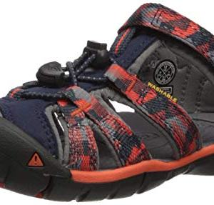 KEEN Unisex Seacamp II CNX Sandal, Dress Blues/Spicy Orange