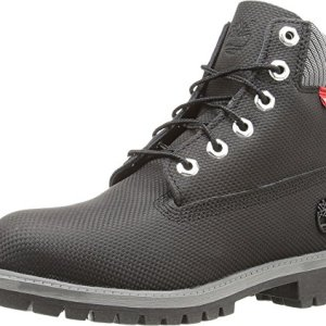 "Timberland Kids Boy's 6"" Premium Boot (Big Kid) Black Relief Helcor Boot"