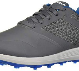 Skechers Men's Max Golf Shoe, Charcoal/Blue
