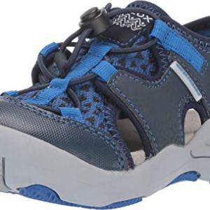 Geox Boys' Kyle 13 Play Slip ON Closed Toe Sandal Sport, Light blu