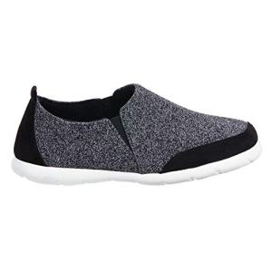 ISOTONER Zenz Men's Sport Knit Slip-On Walking Shoe Black