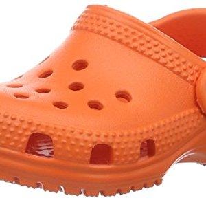 Crocs Kids' Classic Clog, Tangerine
