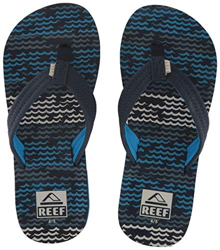 Reef Unisex-Kid's AHI Sandal, Blue Horizon Waves