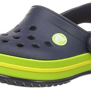 Crocs Kids Crocband Clog Navy/Volt Green Clogs