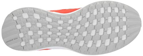 adidas Unisex-Kid's RapidaRun, White/Grey/Active Orange adidas Unisex-Kid's RapidaRun, White/Grey/Active Orange, 5.5 M US Big Kid.