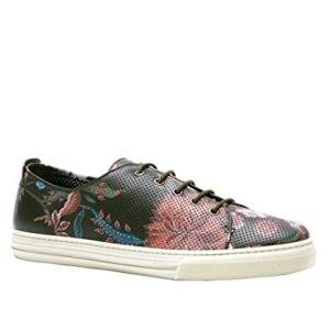 Gucci Men's Flower Print Leather Lace-up Fashion Sneakers