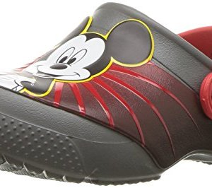 Crocs Kids' Fun Lab Mickey 90th Birthday Clog, Slate Grey
