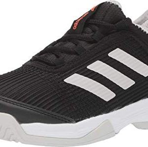adidas Unisex Adizero Club Tennis Shoe, Black/White/Grey