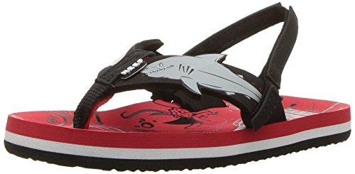 Reef Boy's Little Ahi Shark Sandals, Red Shark